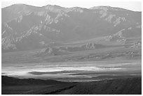 Valley and mountains. Death Valley National Park ( black and white)