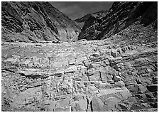 Mosaic Canyon. Death Valley National Park ( black and white)