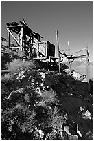 Cashier's mine, afternoon. Death Valley National Park, California, USA. (black and white)