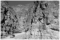 Titus Canyon Narrows. Death Valley National Park, California, USA. (black and white)