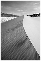 Ibex Sand Dune ridge and ripples. Death Valley National Park ( black and white)