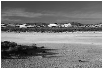 Playa and sand dunes. White Sands National Park ( black and white)