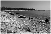 Barred Harbor, Isle Au Haut. Acadia National Park ( black and white)