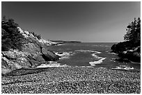 Deep Cove, Isle Au Haut. Acadia National Park ( black and white)