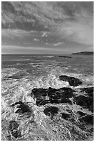 Turburlent surf. Acadia National Park ( black and white)