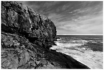 Great Head and ledge. Acadia National Park ( black and white)