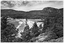 Sand Beach and Behive. Acadia National Park ( black and white)
