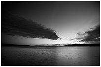 Dark clouds at dusk, Pretty Marsh. Acadia National Park ( black and white)
