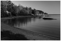 Autumn reflections, Otter Cove. Acadia National Park ( black and white)