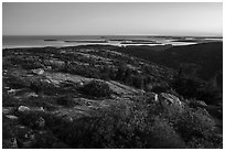 Cadillac Mountain, sunset. Acadia National Park ( black and white)