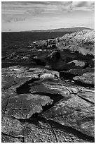 Slabs, Schoodic Point. Acadia National Park ( black and white)