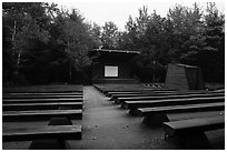 Amphitheater, Blackwoods Campground. Acadia National Park ( black and white)