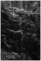 Hadlock Falls. Acadia National Park ( black and white)
