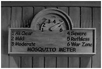 New mosquito meter. Congaree National Park ( black and white)