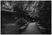 Harry Hampton Visitor Center. Congaree National Park ( black and white)