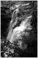 Brandywine falls. Cuyahoga Valley National Park, Ohio, USA. (black and white)