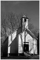 Missionary baptist church, Cades Cove, Tennessee. Great Smoky Mountains National Park ( black and white)