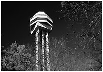 Hot Springs mountain tower. Hot Springs National Park ( black and white)