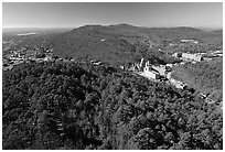 View of Hot Springs from the mountain tower in winter. Hot Springs National Park ( black and white)