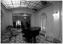 Assembly room in Fordyce bathhouse. Hot Springs National Park ( black and white)
