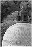 Dome of Quapaw Baths. Hot Springs National Park ( black and white)