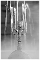 Detail of fountain with thermal steam. Hot Springs National Park ( black and white)