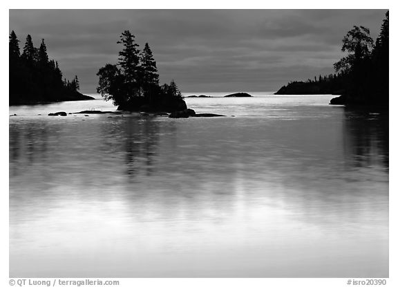 Chippewa Harbor. Isle Royale National Park (black and white)