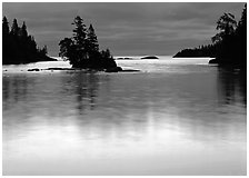Chippewa Harbor. Isle Royale National Park ( black and white)