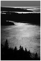 Duncan Bay from Louise Lookout, afternoon. Isle Royale National Park ( black and white)