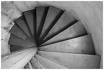 Rock Harbor Lighthouse staircase. Isle Royale National Park ( black and white)