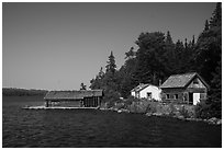 Pete Edisen Fishery. Isle Royale National Park ( black and white)