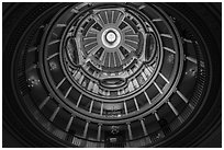 Interior of dome from below, Old Courthouse. Gateway Arch National Park ( black and white)