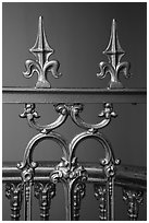 Metalwork with fleur-de-lis, Old Courthouse. Gateway Arch National Park ( black and white)