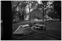 Houchin Ferry Campground. Mammoth Cave National Park ( black and white)