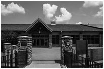 Visitor Center. Mammoth Cave National Park ( black and white)