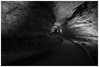 Path in cave. Mammoth Cave National Park ( black and white)