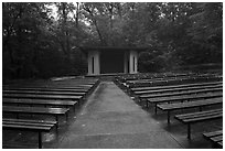 Main park amphitheater. Mammoth Cave National Park ( black and white)