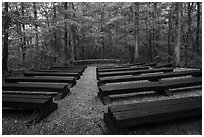 Headquarters Campground amphitheater. Mammoth Cave National Park ( black and white)