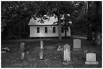 Mammoth Cave Baptist Church and cemetery. Mammoth Cave National Park ( black and white)