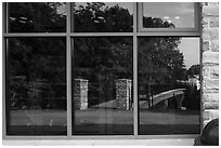 Window Reflexion Visitor Center. Mammoth Cave National Park ( black and white)