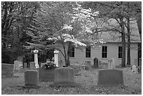 Mammoth Cave church and cemetery. Mammoth Cave National Park ( black and white)
