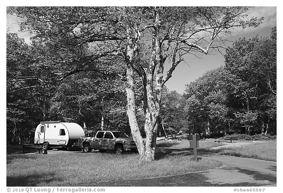 Big Meadows Campground. Shenandoah National Park (black and white)