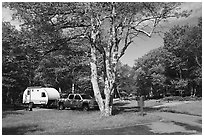 Big Meadows Campground. Shenandoah National Park ( black and white)