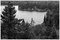 Peary Lake from overlook. Voyageurs National Park ( black and white)