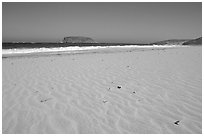 Sand with wind ripples, Cuyler Harbor, mid-day, San Miguel Island. Channel Islands National Park ( black and white)