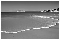Beach, Cuyler Harbor, mid-day, San Miguel Island. Channel Islands National Park ( black and white)