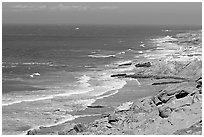 Coastline near Point Bennett , San Miguel Island. Channel Islands National Park ( black and white)