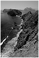 Cliffs near Inspiration Point, East Anacapa Island. Channel Islands National Park ( black and white)