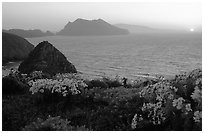 Sunset near Inspiration Point, Anacapa. Channel Islands National Park ( black and white)
