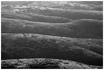 Ridges of western range, Santa Rosa Island. Channel Islands National Park ( black and white)